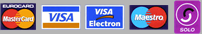 Accepted Card Payments Visa and Mastercard