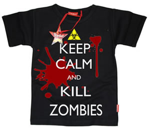 Call of Duty Inspired Keep Calm and Kill Zombies Kids T-Shirts